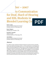 Communication of Deaf and Hearing Problems Students
