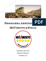 Programma Amministrativo Movimento 5 Stelle Per Il Comune Di Arco