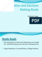 information and decision making study - new