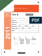 Ks2 Science 2011 Test b