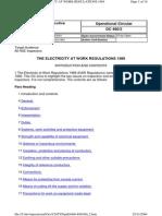 Elecricity at Work Regulations