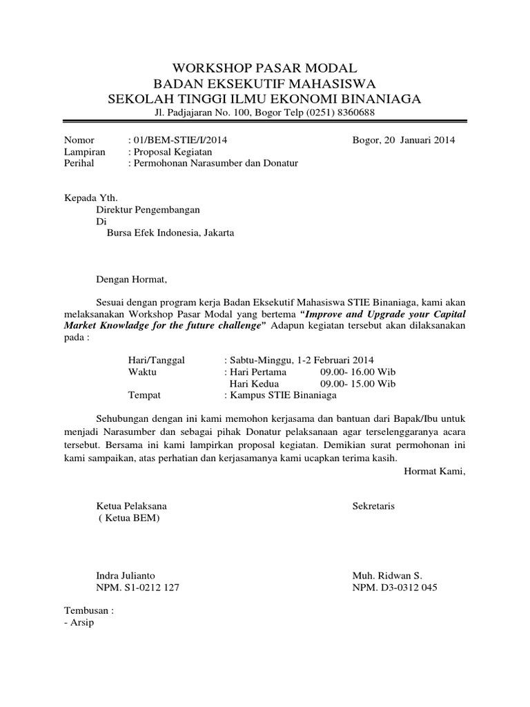 Surat Permohonan Narasumber   PDF
