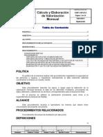 CHP1-OP 013 Procedimiento Para Calcular Valorizacion Del Mes