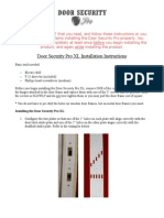 Door Security Pro XL Installation Instructions