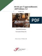 Esercizi e attività per l'apprendimento dell'italiano L2