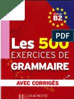 181628121 500 Exercices de Grammaire b1