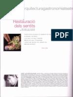 """Poema """"Restauració dels sentits"""" de Lluís Roda - Llibret Falla Corea 2007"""