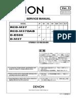 Denon RCD-M37 Service Manual