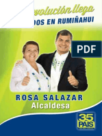 Programa Político de Rosa Salazar para el cantón Rumiñahui