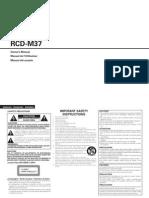 Denon Rcd m37dab User Manual