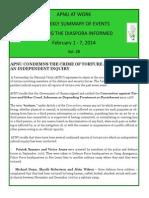 Diaspora News - February 1 - 7, 2014