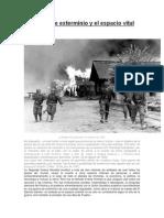 La guerra de exterminio y el espacio vital alemán