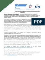 Panama Canal Authority statement | Jan. 6, 2014 (English)