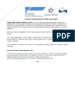 Panama Canal Authority statement | Feb. 5, 2014 (English)