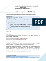 Estructura de Un Programa en C SHARP