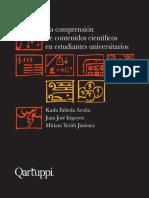 La comprensión de contenidos científicos en estudiantes universitarios