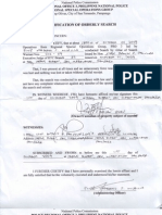 Certification of Orderly Search and Seizure Report