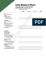 Pro Forma Balance Sheet 1