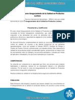 Información curso calidad en productos lacteos