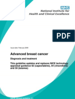 Advanced Breast Cancer Diagnosis and Treatment (NICE Guideline)