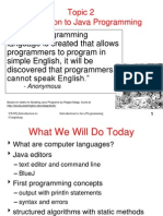 Topic 2 Introduction Tojava Programming