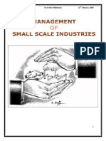 management of small scale industry
