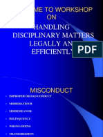 Handling Disciplinary Matters Legally and Efficiently