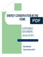 Energy Conservation in the Home - Weitzenfeld