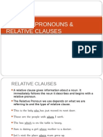 Relative Pronouns & Relative Clauses
