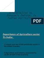 Econo,ic Reforms On  Agriculture
