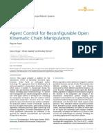 Agent Control for Reconfigurable Open Kinematic Chain Manipulators