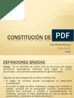 CONSTITUCIÓN DE FONDOS