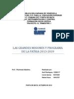 Grandes Misiones y Programa de La Patria_2