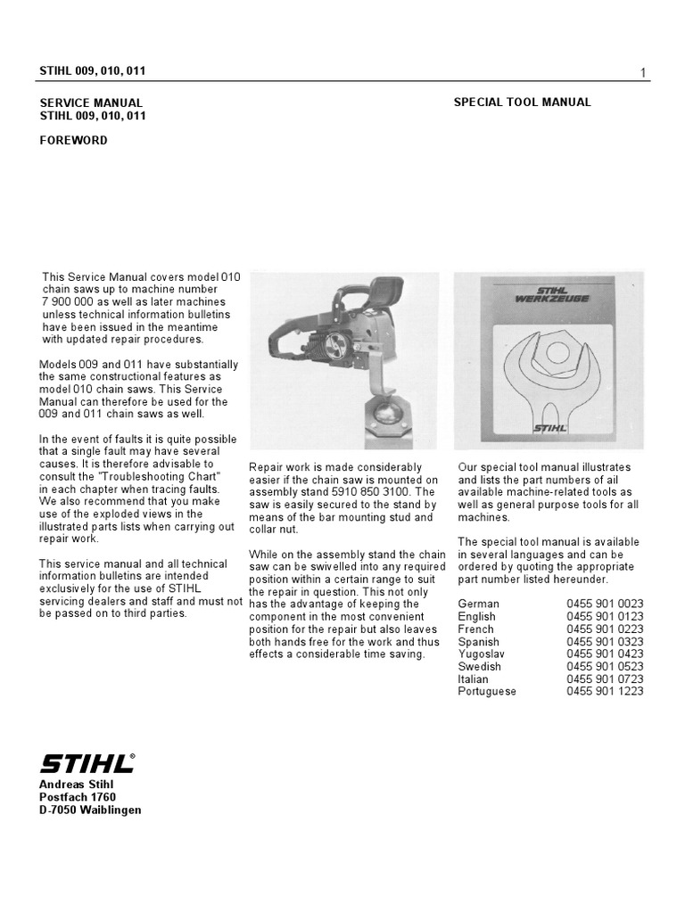 Stihl 012 av chainsaw service manual array 009 010 011 012 service manual ignition system clutch rh pt scribd fandeluxe Images