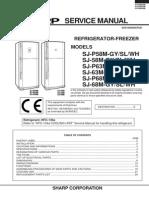 Sharp SJ-P58M-GY Fridge Service Manual