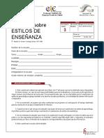 ANEXO 8. ESTILOS DE ENSEÑANZA