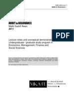 Audit & Assurance 2nd Lecture by Malik Kashif Awan