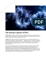 The Storage Capacity of DNA