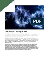 The Storage Capacity of DNA