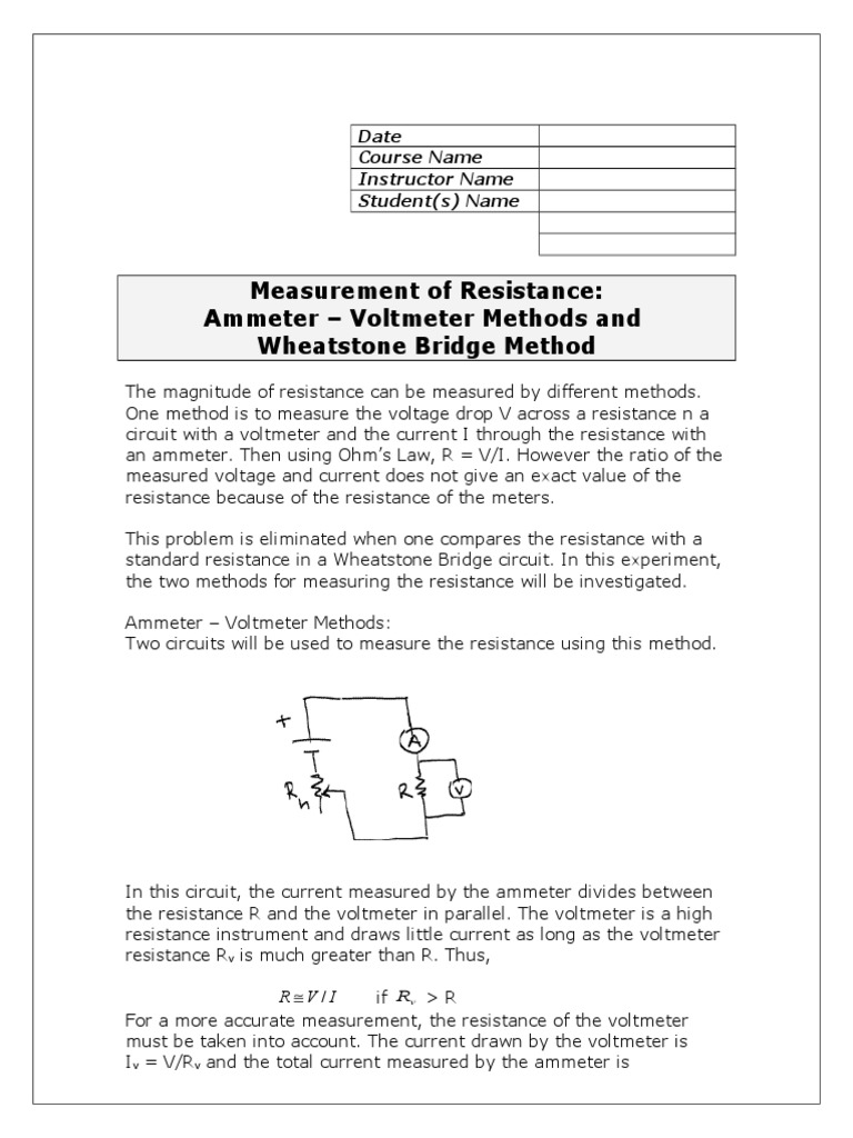 Mb R Measurement Electrical Resistance And Conductance Quantity Wheatstone Bridge Wiring Diagram