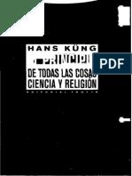 Kung Hans El Principio de Todas Las Cosas Ciencia y Religion