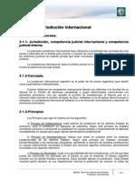 Jurisdicción, Ley aplicable y aspectos procesales del  Derecho Internacional Privado