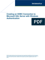 0552 Creating an ODBC Connection to Microsoft SQL Server With Windows Authentication