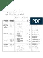 PLANIFICARE LIMBA FRANCEZĂ CLASA A VIII-A