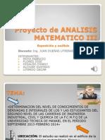 Proyecto de Analisis Matematico III