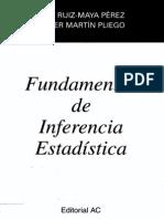 Ruiz-Maya Perez Pliego Fundamentos Inferencia Estadistica 1999 Spanish