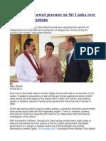 Comment Renewed Pressure on Sri Lanka Over War Crime Allegations