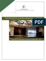Programa Curso de Exercicios Politica Internacional Cacd 2012