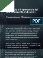 Concepto e Importancia Del Mantenimiento Industrial