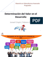 Determinación de Valor en Desarrollo